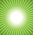 Green burst background vector image
