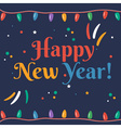Greeting card for New 2016 Year in flat design vector image vector image
