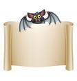 halloween bat banner vector image vector image