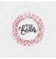 Happy easter - calligraphy typography badge It can vector image vector image