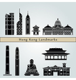 Hong Kong V2 landmarks and monuments vector image vector image
