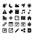 interface icons collection vector image vector image