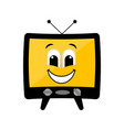 isolated happy tv emote vector image vector image