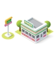 isometric diner vector image vector image