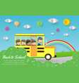 kids on school bus education concept vector image