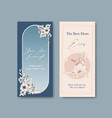 line flower flyer with design template card for vector image vector image