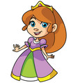 little princess on white vector image vector image