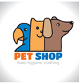 Logo shop pet vector image vector image