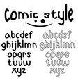 lowercase comic style alphabet vector image vector image