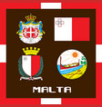 official government ensigns of malta vector image vector image