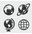 Planet symbol set vector image vector image