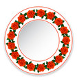 plate of red roses vector image