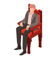politic man at conference icon isometric style vector image