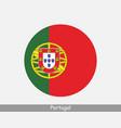 portugal round circle flag