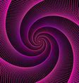Purple string spiral fractal design vector image vector image