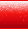 red christmas banner vector image vector image