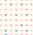 romantic heart seamless pattern vector image vector image