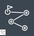 route planner line icon vector image vector image