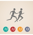 running or jogging men icons vector image vector image