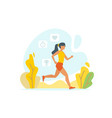 running woman outdoor vector image vector image