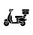 scooter delivery glyph icon motorcycle vector image vector image
