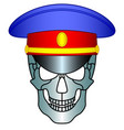 service cap and skull vector image vector image