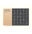 Set of Thin Coffee Elements and Coffee Accessories vector image vector image