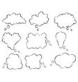 set speech bubbles vector image