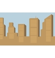 Silhouette of big building vector image vector image