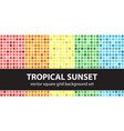 square pattern set tropical sunset seamless vector image vector image