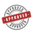 stamp for approved vector image