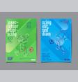 template sport layout design flat design single vector image vector image