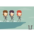 The blind leading vector image vector image