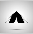 tourist tent silhouette simple black icon vector image vector image