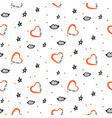 valentine day seamless doodle texture love vector image vector image