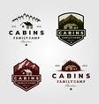 vintage cabins logo collections vector image vector image