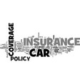 when car insurance is your friend text word cloud vector image vector image