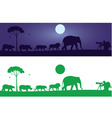 Wild Animals Wall Decal vector image