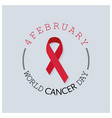 world cancer day design with elegent background vector image