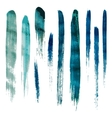 Blue watercolor brush strokes vector image