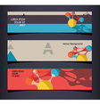 Set of horizontal banners headers Editable design vector image