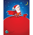 Super Santa vector image
