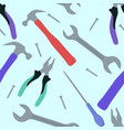 seamless flat texture with working tools vector image