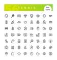 Tennis Line Icons Set vector image