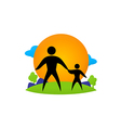 family ecology health life vector image