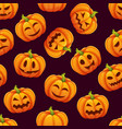 halloween seamless pattern with different funny vector image