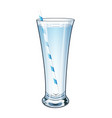 a glass of fresh clear water with juice tube vector image