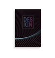 abstract brochure cover design template with wavy vector image vector image