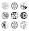 Abstract circle element Concentric circles vector image