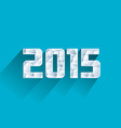 abstract ice polygonal 2015 New Year vector image vector image